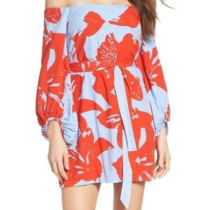 Bardot camilla off the shoulder dress